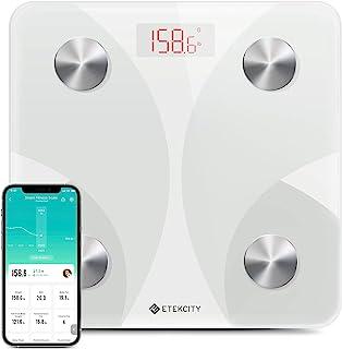 Etekcity 体重智能体重秤,数码浴室体重秤,无线蓝牙体脂秤跟踪 12 个关键数据,带智能手机应用程序,*监控,400 磅