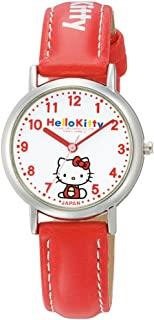 [西铁城 Q&Q]CITIZEN Q&Q 手表 Hello Kitty 指针式 皮带 日本制造 白色 × 红色 0005N001 女式