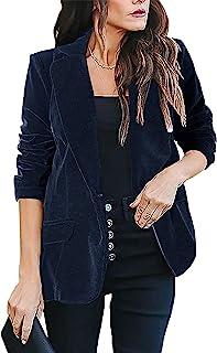 kenoce 女式休闲基本工作办公室西装优雅长袖开襟开衫夹克