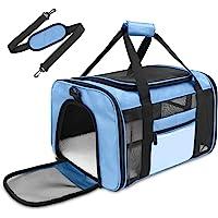 ASHLEYRIVER 猫背带,航空公司批准的软面宠物旅行载体 - 灰色 粉色 黑色 蓝色 *蓝