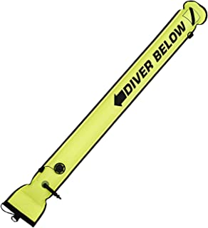 水肺潜水 1.43 米底部表面标记,带开放式压力阀,黄色