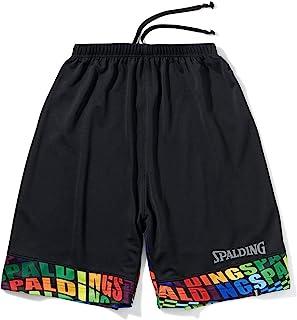 SPALDING 斯伯丁 篮球 青少年训练裤 光学彩虹 黑色 150厘米 篮球
