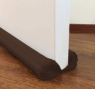 Alaca Sewens 双门挡板防风防风防风防风窗微风挡板可调节门扫地 38 英寸(约 96.5 厘米)咖啡