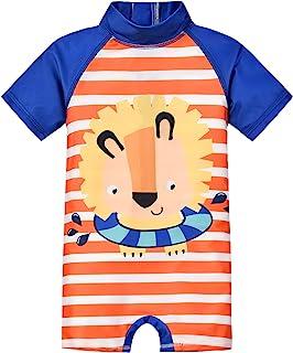 婴儿幼儿男孩连体泳装套装 儿童长袖日光浴套装 婴儿男孩泳衣
