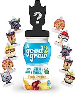 good2grow *狗狗巡邏隊收集包減少75%糖類水果混合果汁,6瓶裝6盎司(約170.1克)防漏角色瓶口,USDA Organic 認證,非轉*,不含糖(人物上衣可能有所不同)