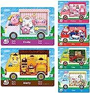 适用于 Animal Crossing New Horizons Amiibo Card 三丽鸥*包,6 件 ACNH Villager NFC 卡。兼容 Switch/Switch Lite