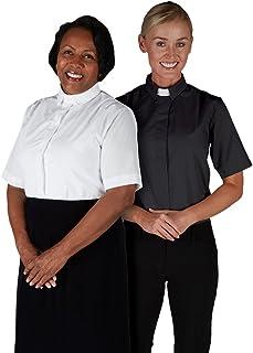 Autom 女式带领衬衫 - 短袖黑色,尺码 - 14