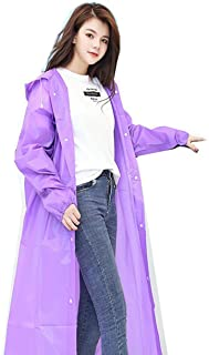 一次性旅行保护雨衣纽扣时尚儿童加厚 EVA 雨披