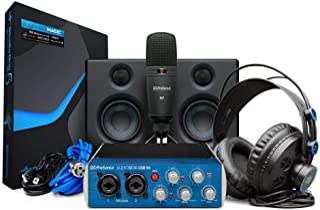 PreSonus AudioBox Studio Ultimate USB 录音包,带音频接口、麦克风、监视器、耳机和 Studio One 软件