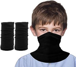 儿童保暖颈部面具男孩和女孩头巾防风面具