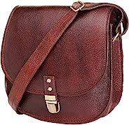 都市皮革斜挎单肩包,适合年轻女士,马鞍包钱包手提包,适合少女,11 英寸(约 27.9 厘米)