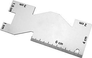 Magic&shell 测量接缝仪 10 厘米/3.9 英寸金属缝纫拼接尺,用于绗缝网格切割缝纫定制 DIY 工艺金属缝纫尺