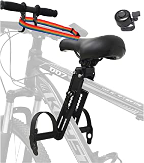 Veggicy 儿童自行车座椅 带车把附件 可拆卸前座儿童自行车座椅 带脚踏 适合 2~5 岁儿童 ( *大 40 磅 ) 兼容所有成人山地自行车。
