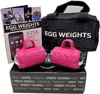 Egg Weights 手哑铃套装适合男女士和女性,免手持重量,适合踢腿、拳击、瑜伽等,新一代哑铃和运动训练工具!