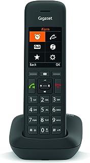 Gigaset C575 DECT 无绳电话,舒适打电话,德国制造 - 大数字显示,彩色显示屏,操作简便,黑色
