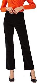 Bamans 灯芯绒裤女式靴型超舒适工作休闲裤