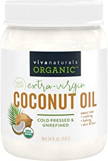 Viva Naturals 特级初榨椰子油(54盎司/1.6升)-Non-Gmo冷榨