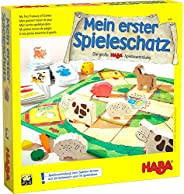 Haba 4278 Mein erster Spieleschatz 我的游戏宝藏 大型Haba游戏合集 10个棋盘/记忆和纸牌游戏的集合包 适于3岁以上儿童 适合儿童的木制游戏材料
