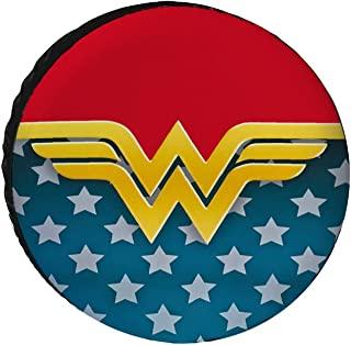 Valnial Won-der Woman 备用轮胎罩,防尘防水日光和牛津布轮罩 SUV 露营旅行汽车配件 15 英寸(约 38.1 厘米)