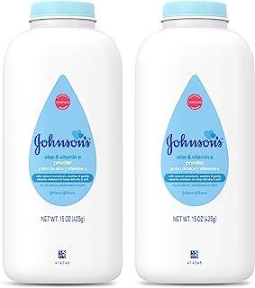 Johnson's 婴儿粉,纯玉米淀粉 芦荟和维生素 E 纯玉米淀粉芦荟和维生素 E 15 Oz. (Pack of 2) 30