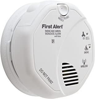 First Alert SCO500B 无线互连光电*和一氧化碳组合警报,带语音和位置 1包 SCO500B