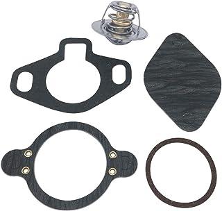 PLLP 恒温器套件 160° 带塑料套,适用于 Mercruiser V6 和 V8 4.3L,5.0L,5.7L,7.4L,8.2L 1987-Up 替换装 18-3647 807252Q5