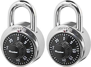 Master Lock 1500T Locker Lock 组合挂锁,2 件装,黑色