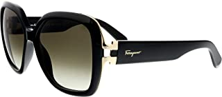 Salvatore Ferragamo - GANCINO SF 781S, Geometric, acetate, women, BLACK/DARK GREY SHADED(001 R), 56/15/135