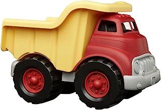Green Toys 自卸车,黄色和红色-无BPA,邻苯二甲酸酯,精细运动技能开发,模拟玩具