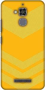 AMZER Designer 超薄卡扣式硬壳,适用于华硕 ZenFone 3 Max ZC520TL 高清颜色,超轻背壳 - 碳纤维红色网络黄色 2