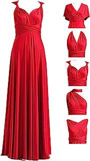 Infinity 连衣裙带抹胸,可转换礼服,伴娘礼服,长款,短,加大码,多用礼服,扭褶裹身裙