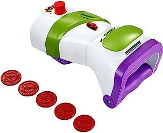 Mattel GDP85 - 迪士尼皮克斯玩具总动员 4 Buzz Lightyear 投掷盘 玩具枪 带 5 个投影盘子 角色扮演玩具 4 岁以上