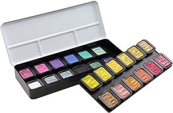 荷尔拜因 水溶性固体颜料 精巧 珍珠 22色+Flip-Flop2色 F2400 610605