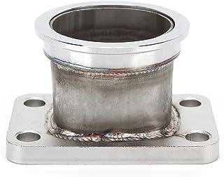 涡轮法兰适配器不锈钢替换件 适用于 T3 4 螺栓到 2.5 英寸 V 形带不锈钢转换适配器 涡轮转换适配器 涡轮下管法兰