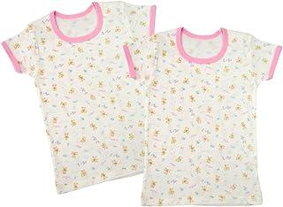 Baby Story 2件套 印花半袖圆领衬衫 T11134-2 日本制造 粉色 100