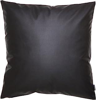 fabrizm 日本制造 靠垫套 60角 60×60厘米 颜色 皮革 黑色 1434-bk