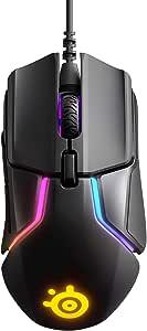SteelSeries Rival 600 游戏鼠标 12,000 CPI TrueMove3+ 双光学传感器 0.05 提升距离 重量系统