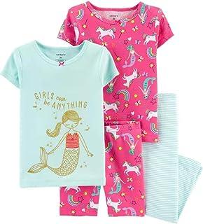 Carter's 女婴棉质睡衣4件套