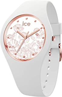 Ice-Watch - ICE Flower Spring 白色 - 女士腕表 硅胶表带 - 016662(小号)