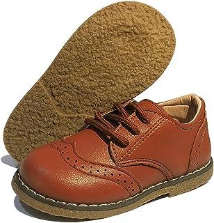 BESIKIM 幼儿男孩女孩牛津鞋系带学校制服正装鞋乐福平底鞋(幼儿/小童)