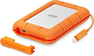 LaCie Rugged Thunderbolt C口便携式移动硬盘 5TB 型号:STFS5000800,2.5寸,适用于Mac和PC