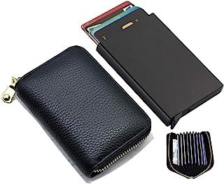 BOCURA 真皮信用卡钱包 信用卡包 带拉链钱包 小号手风琴卡包