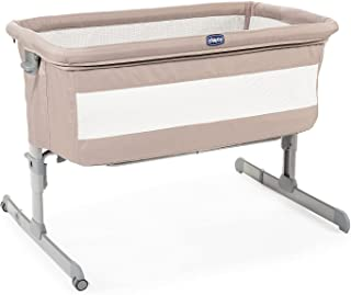 Chicco 智高 Next2Me 床边婴儿沙 - 带床垫的共眠婴儿床,可拆卸侧面,可调节高度,网眼窗口,车轮和旅行袋 - 0-6 个月,9 千克
