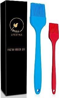 Ignite Lifestyle 硅胶糕点刷 - 2 件烘烤刷,适用于烹饪、烘焙和烧烤 - 易于清洁的烧烤刷 - 耐热硅胶刷 - 烤刷厨房 - 烧烤刷 - 大号和小号