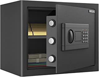 MAGLAG *盒 *锁盒 钢结构, 数字键盘保险柜 带墙壁或地板安装,防盗报警 小型*盒 适用于家庭办公室钱 珠宝枪支*,1.0 立方英尺