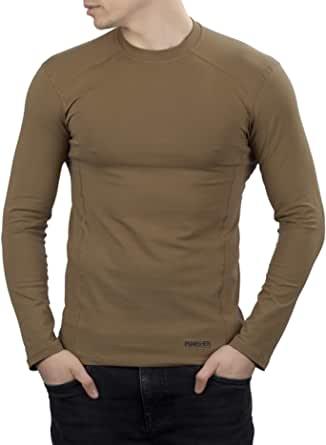 281Z 男式*弹力棉长袖 T 恤 - 战术远足户外汗衫 - 惩罚者战斗线