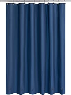 Barossa Design *蓝浴帘内衬 6 个磁铁 - 防水 PEVA 淋浴衬里适用于浴缸,182.88 厘米 x 182.88 厘米标准尺寸,无聚氯乙烯金属垫圈 - *蓝,72x72