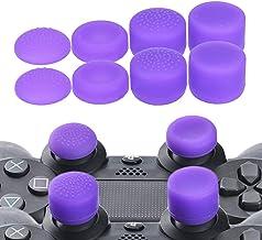 8 件凸起的模拟棒拇指握把盖操纵杆适用于索尼 Playstation 4 PS4 PS4 Slim PS4 Pro DualShock 4 PS2 PS3 Nintendo Switch PRO Xbox 360 Wii U 拇指棒紫色