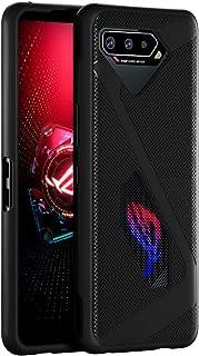 Cresee 兼容 ROG Phone 5 手机壳,柔韧 TPU 保护套防刮防震,适用于 ASUS 华硕 ROG Phone 5,黑色
