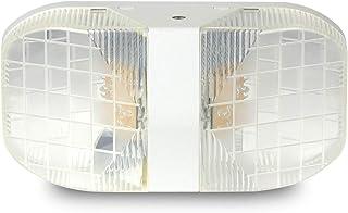 LRoom 商用双大方形头 LED 应急灯带电池备用,高光输出适用于走廊、楼梯、商业、家庭、房间、LRM1004